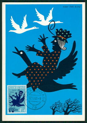 Maximumkarten Niederlande Mk 1963 Kinderlieder VÖgel Gans Maximumkarte Mc Cm Ea86 Noch Nicht VulgäR