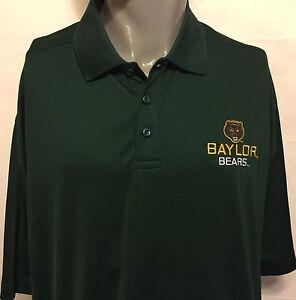 Baylor-University-Bears-Under-Armour-UA-Green-Polo-Sz-2XL-College-NCAA-Football