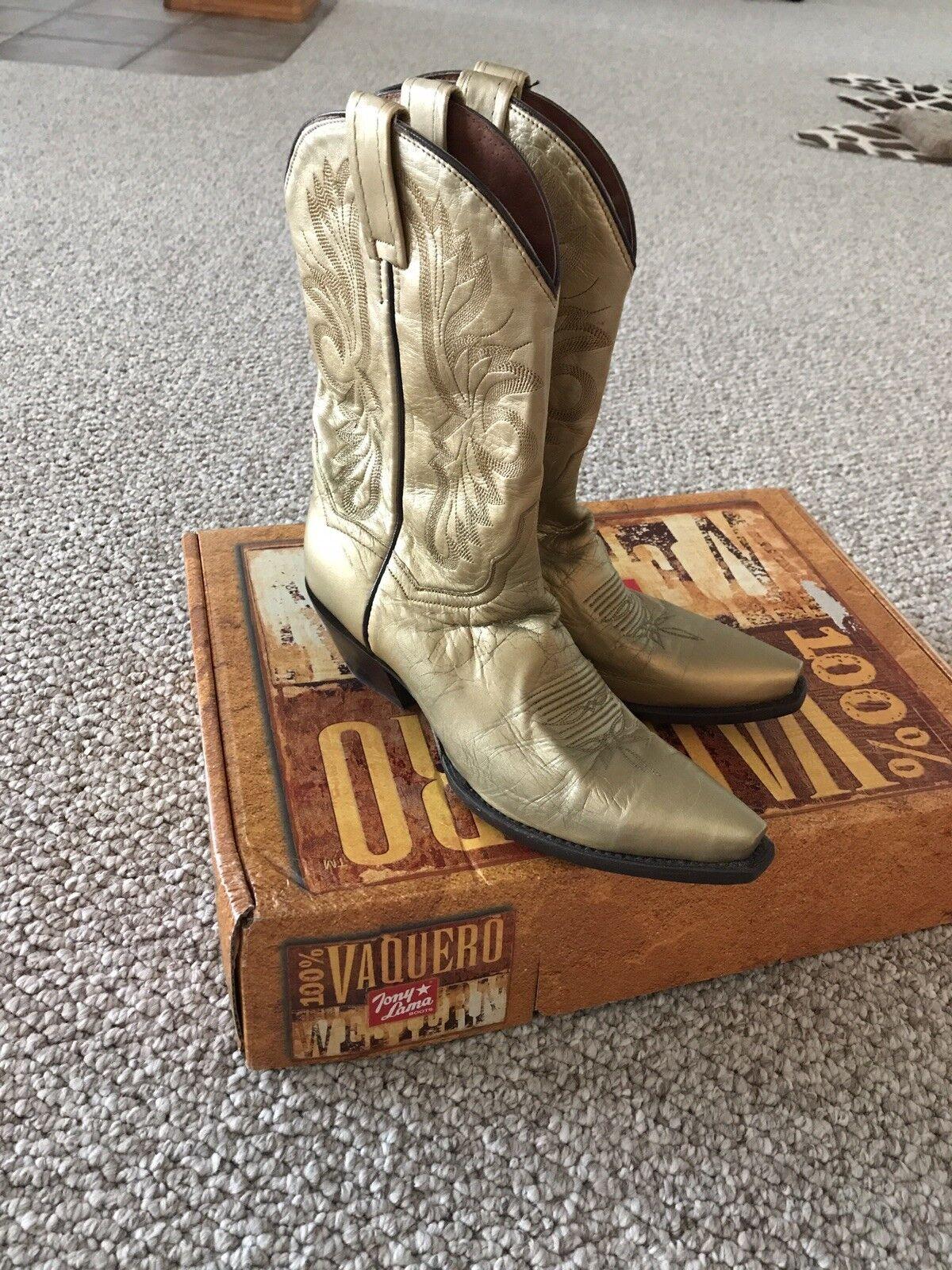 Dan Post Marrón Leather Pull en Thorn vena 6,5 6,5 vena m Mujer 's Western Boots USA 86f1d6