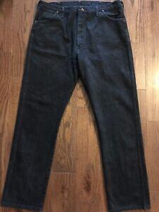 Vintage-Wrangler-Men-s-Jeans-Size-40-x-34-Black-Cowboy-Western-Rodeo