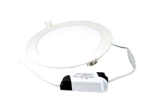 Flecha Roja 6 W LED blanco frío 4000K Blanco Redondo Luz Panel Circular de economía