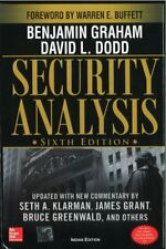 Security Analysis: Sixth Edition Foreword by Warren Buffett HARDCOVER BOOK NEW