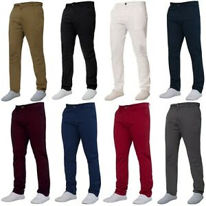 Enzo-Mens-Chino-Trousers-Slim-Fit-Stretch-Cotton-Jeans-Pants-All-Waist-Sizes
