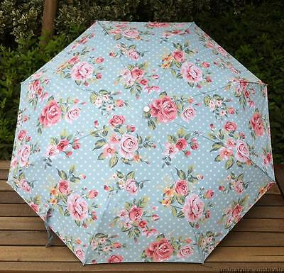New Folding Windproof Anti UV Clear/Rain women rose flower Oil Painting Umbrella
