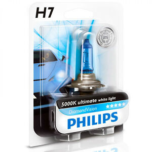 philips diamond vision 5000k headlight light bulb h7. Black Bedroom Furniture Sets. Home Design Ideas