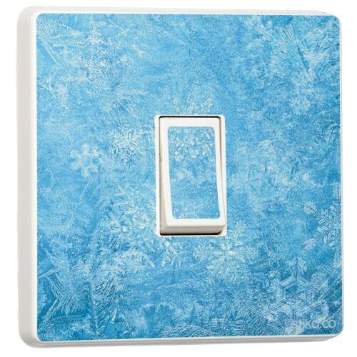 Self Adhesive Vinyl Sticker Single Light Switch FROZEN ICE Water Design