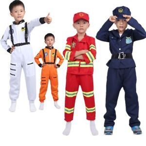 Kids Boys Astronaut Costume Firefight Police Fancy Dress Cosplay Outfit Clothes
