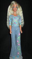 Barbie Doll Blonde Blue Pink Top Clothes Shoes Denim Jeans Pants Xlnt FREE S/H!