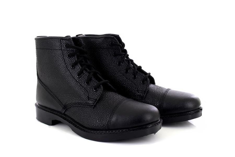 El nuevo outlet de marcas online. Grafters M391A Unisex Negro Cuero Grano Grano Grano 6 Ojo Cadete Militar botas  se descuenta