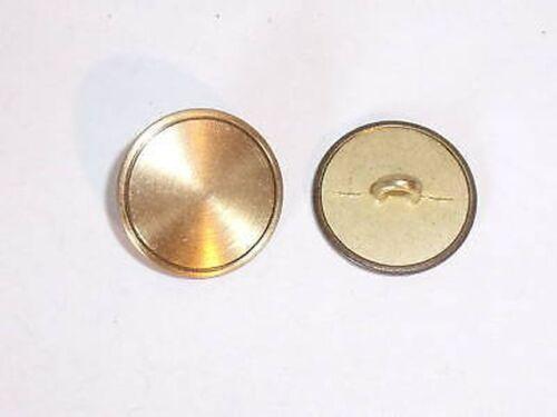 8 Metallknöpfe Knöpfe  18mm messing  02.43#239mk