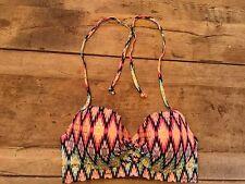 Warm Ikat Foil 34DDD Victoria's Secret THE GETAWAY HALTER Bikini Swimsuit Top VS