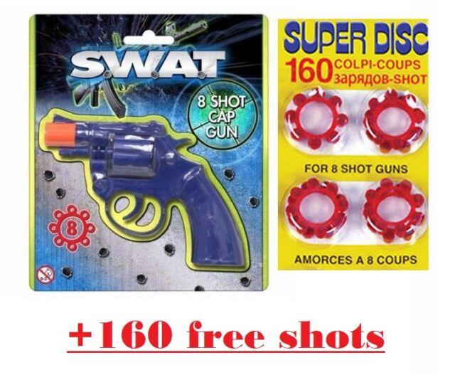 160 Shots Novelty Plastic Gun Pellet Bullet Set Super Discs For 8 Shot Gun Toy