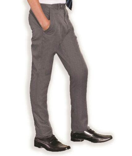 """Slim Fit Mens Smart Office Trousers Black Grey Navy Skinny Leg Pants 28/""""-42/"""""""