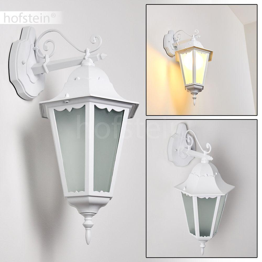 Applique extérieure Lampe de terrasse blancohe Luminaire de jardin Lampe murale