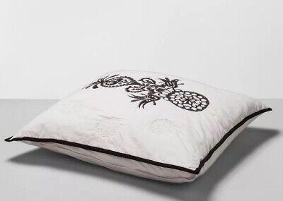 1 OpalHouse Mallorca Black Embroidered Ornament Pillow Euro Sham