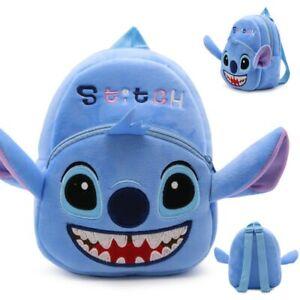 Sac-A-Dos-Cartable-Stitch-Scolaire-Ecole-Enfants-Fille-Maternelle-Peluche-Disney