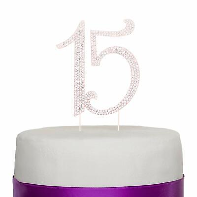 Phenomenal Rose Gold 15 Number Cake Topper 15Th Birthday Quinceanera Funny Birthday Cards Online Inifofree Goldxyz