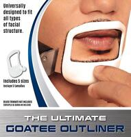 Beardoptima Goatee Outliner Perfect Beard Shaper Facial Hair Tool Template 5 Szs