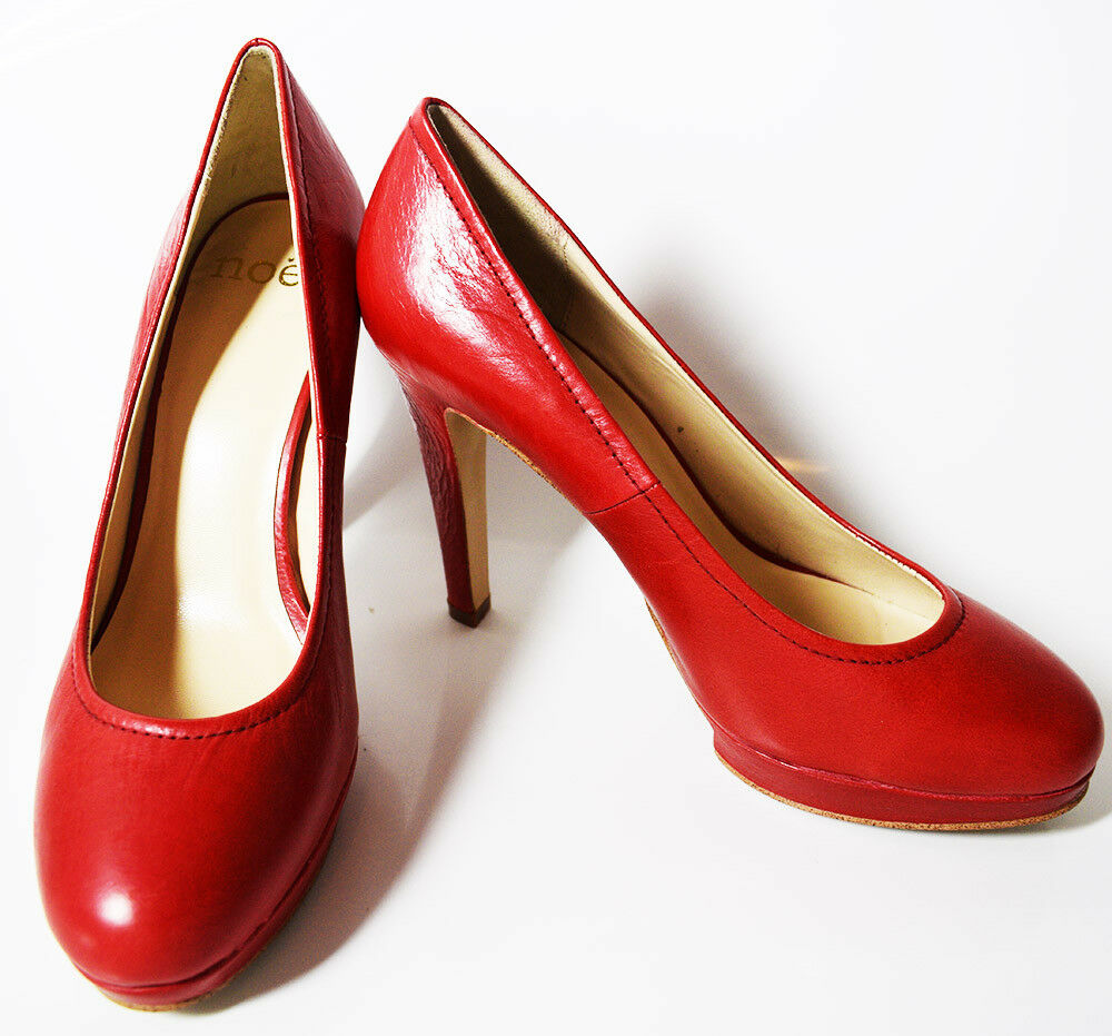 Noe High High High Heel Women Leather Pumps Platform Court shoes Red UK 6   EUR 39 523669