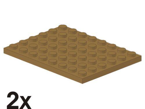 2 Stück NEUE Platten 6x8 in dunkeltan/dunkelbeige 4251796 338 Art. 3036