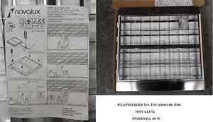 Plafoniera Led Incasso 60 60 : Stock pz plafoniere da incasso novalux ebay
