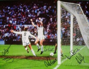 "ASTON VILLA 1982 EUROPEAN CUP FINAL 16""x12"" PHOTOGRAPH SIGNED BY 7 WITH PROOF"