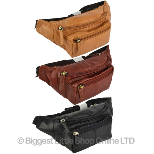 Top Quality VISCONTI LEATHER Bum Bag Waist Fanny Pack in 4 Colours Soft Stylish