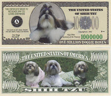 Two Shih Tzu K-9 Shihtzu Dog Novelty Money Bills # 283