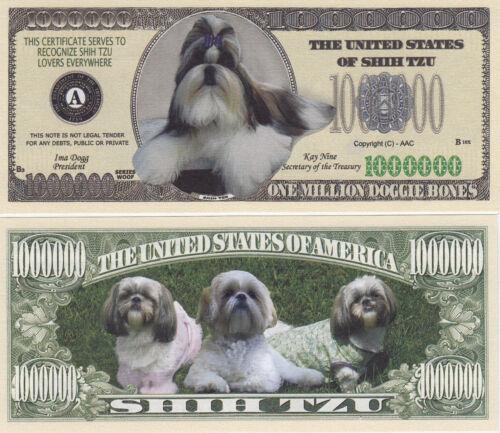 100 Shih Tzu K-9 Shihtzu Dog Novelty Money Bills # 283