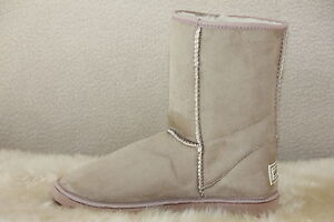 Ugg-Boots-Short-Synthetic-Wool-Colour-BEIGE-Men-Size-10