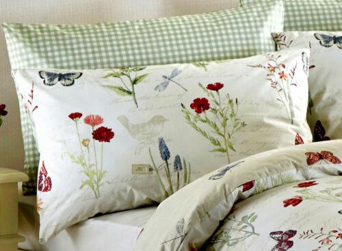 Curtains OR Bedspread Dreams /& Drapes Reversible Floral Birds Duvet Cover Set