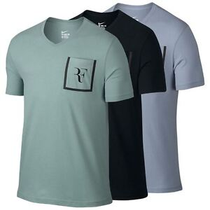 Details about Nike 803882 Men's RF Stealth T-shirt Tennis Shirt Roger  V-neck Top Practice Tee