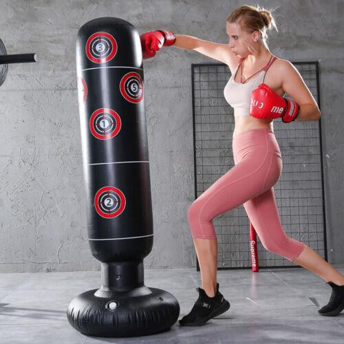 Boxing Punching Bag Inflatable Tumbler Kids Adult Home Fitness Sandbags 160cm US