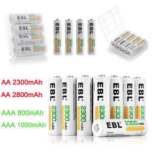 EBL-Lot-AA-AAA-2800mAh-1100mAh-NI-MH-Rechargeable-Batteries-For-Flashlight-Box