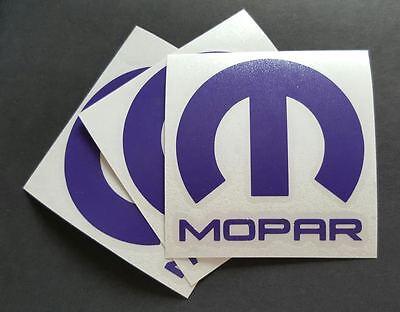 """DIE CUT PURPLE 3 X Mopar Vinyl Decal Sticker Dodge Jeep 3/""""X 3/'/'"""