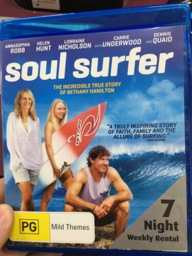 1 of 1 - Soul Surfer ex-rental blu ray (2011 surfing true story drama movie)