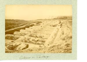 Tunisie-Carthage-Citernes-Vintage-Print-Tirage-albumine-10x14-Circa-18