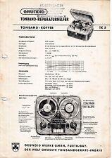 Service Manual-Anleitung für Grundig TK 5