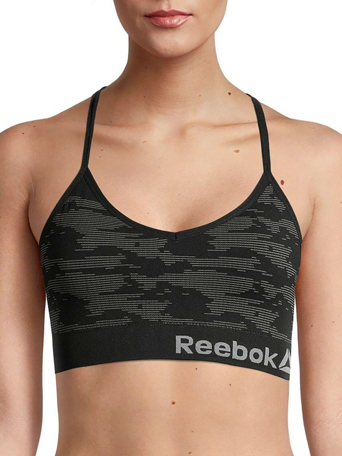 NEW Reebok 2 pack seamless bralette sports bra Large fits 36C 36D 38B 38C 40B