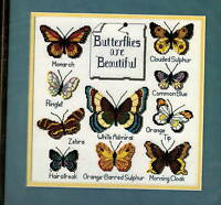 Dimensions Butterfly Collection Counted Cross Stitch Kit 1983 12x12 Craft Supplies