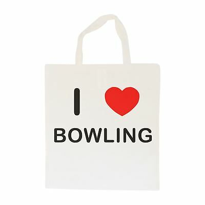I Love Bowling - Cotton Bag   Size choice Tote, Shopper or Sling