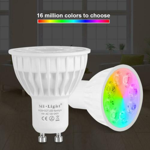 Milight Wireless GU10 4W LED Light RGB CCT Birne Lampe Dekor APP-Steuerung