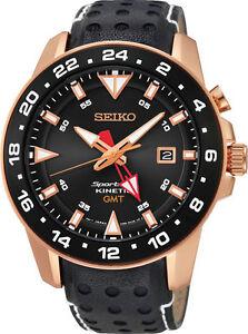 Seiko SUN028 SUN28P1 Mens Sportura Kinetic GMT Watch NEW RRP $995.00