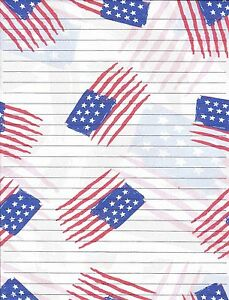 writing on the american flag