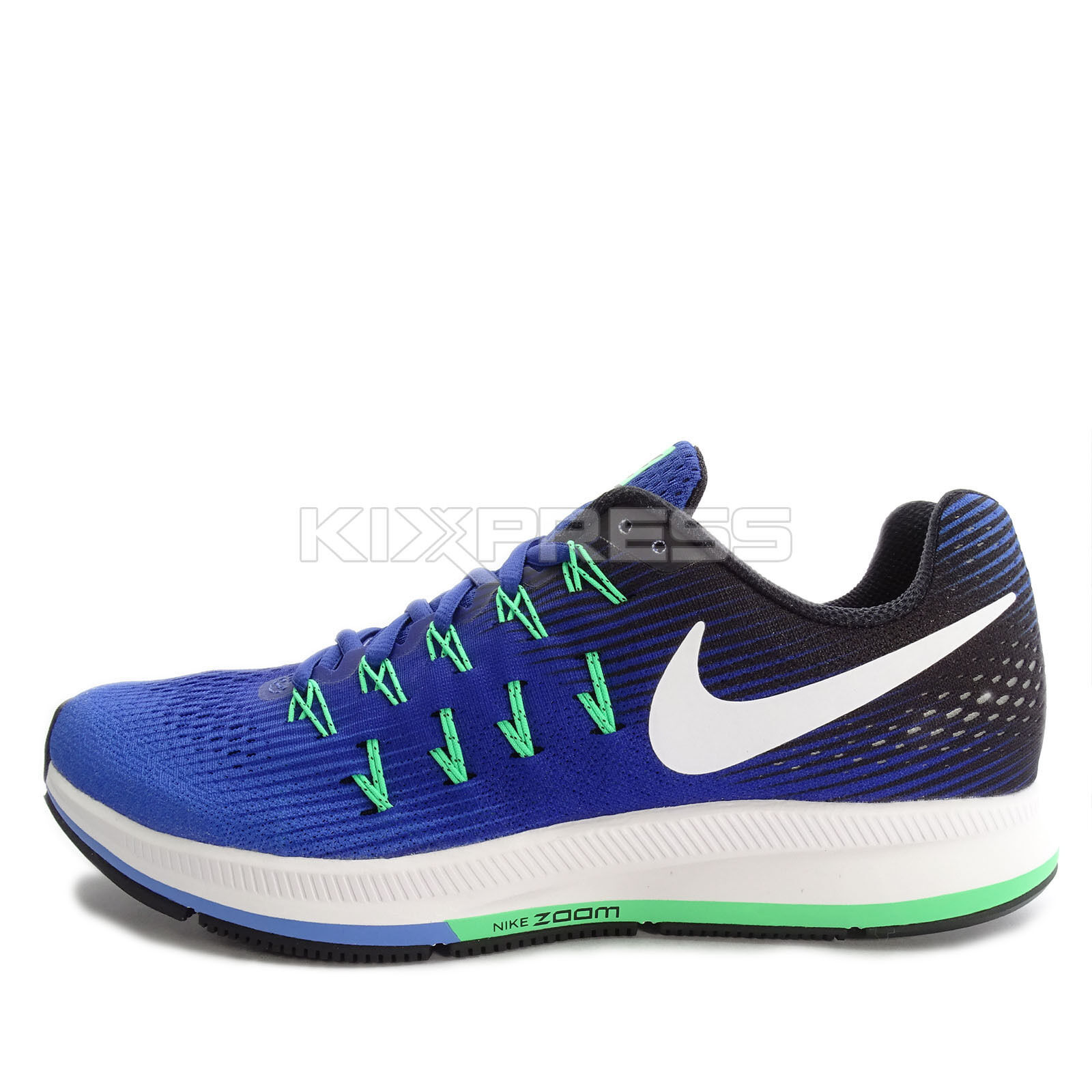 Nike Air Zoom Pegasus 33 Price reduction Running Medium Blue/White-Navy-Black New shoes for men and women, limited time discount