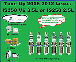 Tune up 2006 2012 lexus is350 is250 v6 spark plug oil air for Lexus is250 cabin air filter