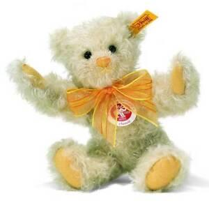 Rare-STEIFF-Jointed-New-Mohair-TEDDY-BEAR-poseable-Steiff-Gift-Box-001796