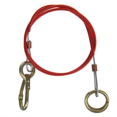 Abreißseil 1000mm mit Ring und Karabinerhaken  PVC-ummantelt