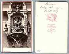 Kummerly, Bern horloge mécanique vintage carte de visite, CDV, provenance album