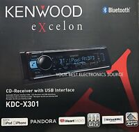 Kenwood Excelon Kdc-x301 In Dash Cd Receiver With Built In Bluetooth Kdcx301